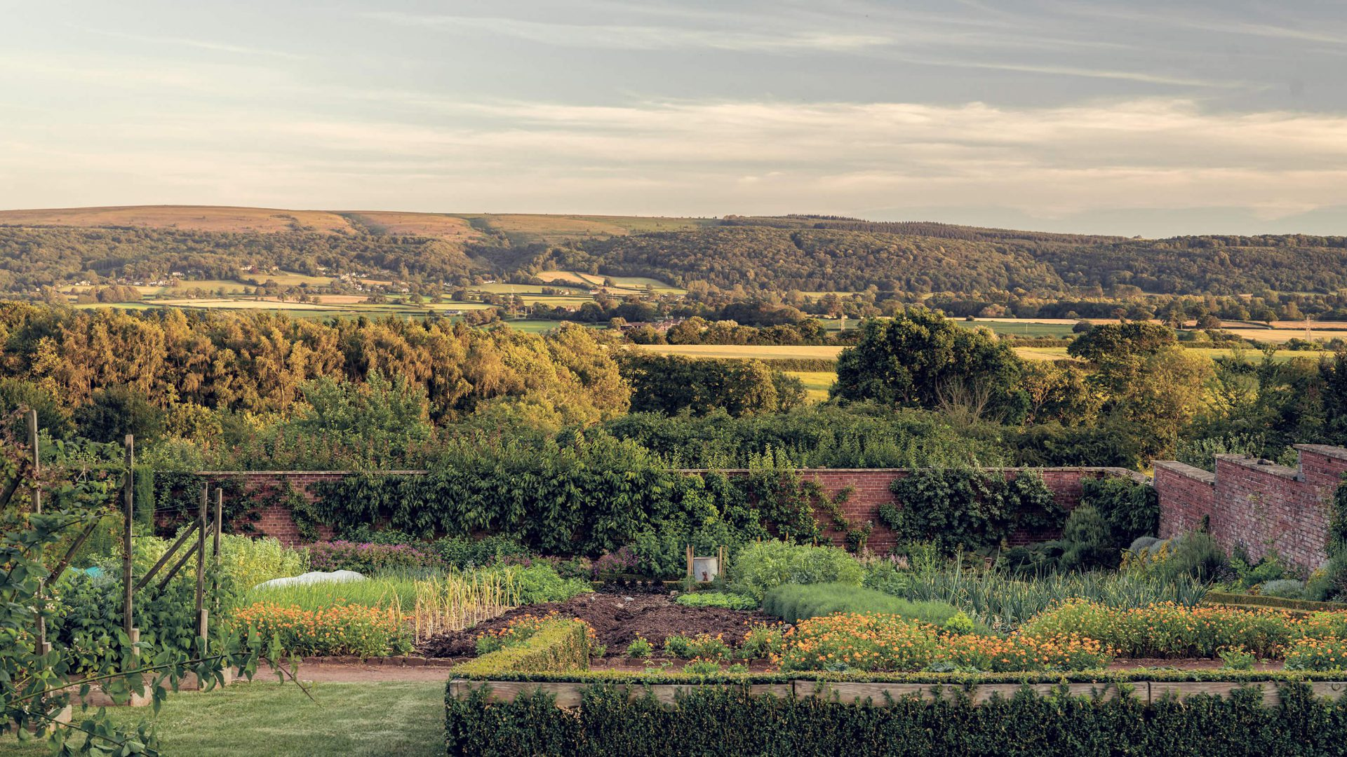 Walled Garden Views of the Mendips